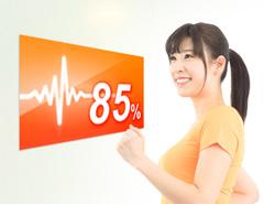 カロリロの心拍数可視化を利用する女性