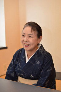 子規の庭保存会 理事 中塚隆子さん