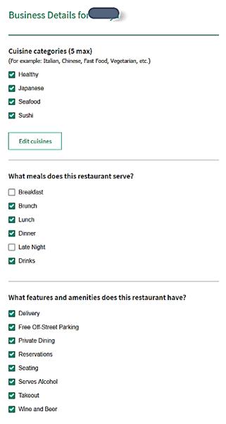 【図9 トリップアドバイザーでの飲食店登録時のジャンル設定画面】